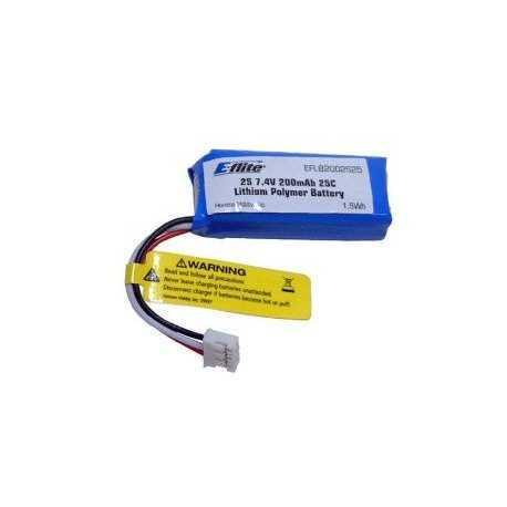 Batería 200mAh 2S 7.4V 30C Li-Po Akku