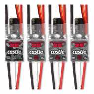 QuadPack 25, 25-Amp Multi-Rotor ESC (4) Pack, 1 with 8-Amp BEC