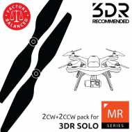 Helice Multirrotor 10x4.5 Prop Set x4 Negro 3DR SOLO