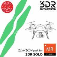 Helice Multirrotor 10x4,5 Prop Set x4 Verde 3DR SOLO