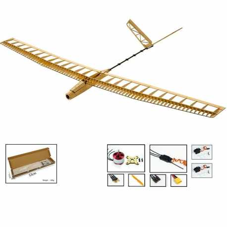 Glider Uzi Kit ( 1.5m ) + Motor + Variador + Servo