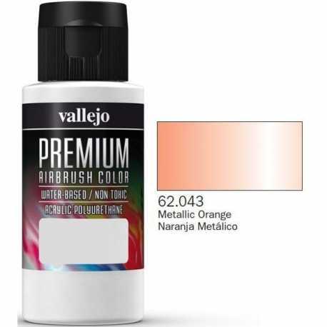 Pinturas Vallejo Premium Naranja Metálico 60ml