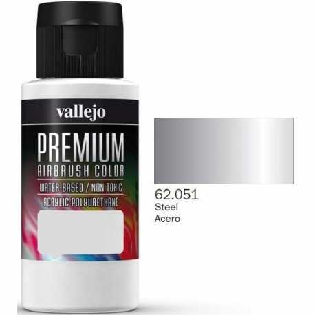 Pintura Vallejo Premium Acero 60ml
