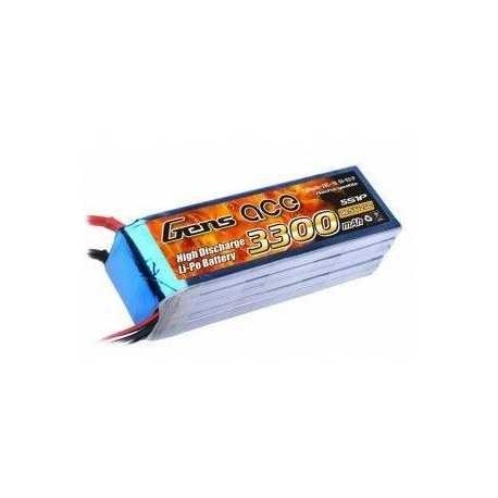 Gens ace 3300mAh 18.5V 25C 5S1P Lipo Battery Pack