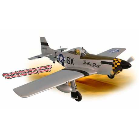 MUSTANG P51 GP/EP 50-61 CC SCALE 1:5 ¼ ARF