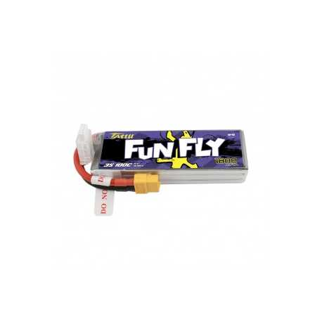 Tattu Funfly Series 1800mAh 11.1V 100C 3S1P Lipo Battery Pack with XT60 plug