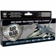 Set Air War 8 USAF Colors Grey Schemes