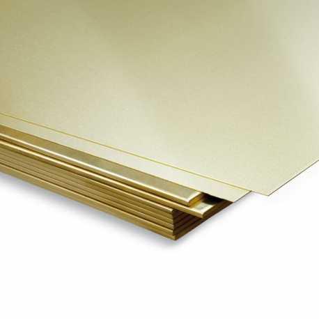 Plancha de latón 400x200x0,3mm
