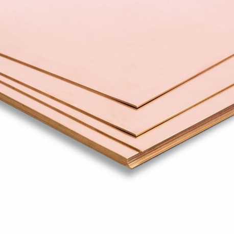 Plancha de cobre 400x200x0,3mm