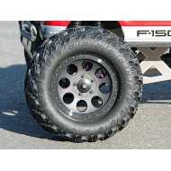 LLANTA.MAG-8 WHEEL BLACK (83X56mm/2pcs)