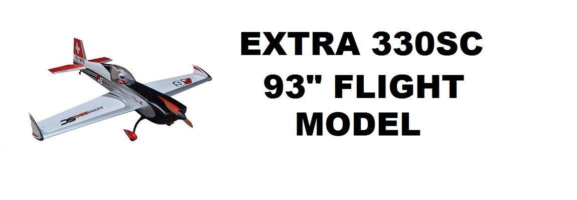 "EXTRA 330SC 93"" V3 Blanco Negro y Plata"